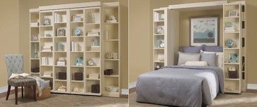 Madison bi-fold Murphy bed - eclectic - bedroom - dallas - More Space Place Plano