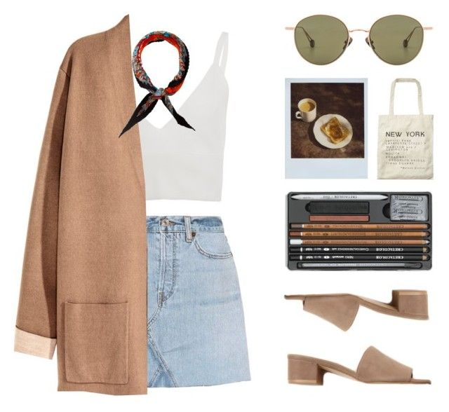 """TOAST"" by arditach ❤ liked on Polyvore featuring RE/DONE, Zeynep Arçay, Maryam Nassir Zadeh, Hermès, Ahlem, Polaroid and Scotch & Soda"