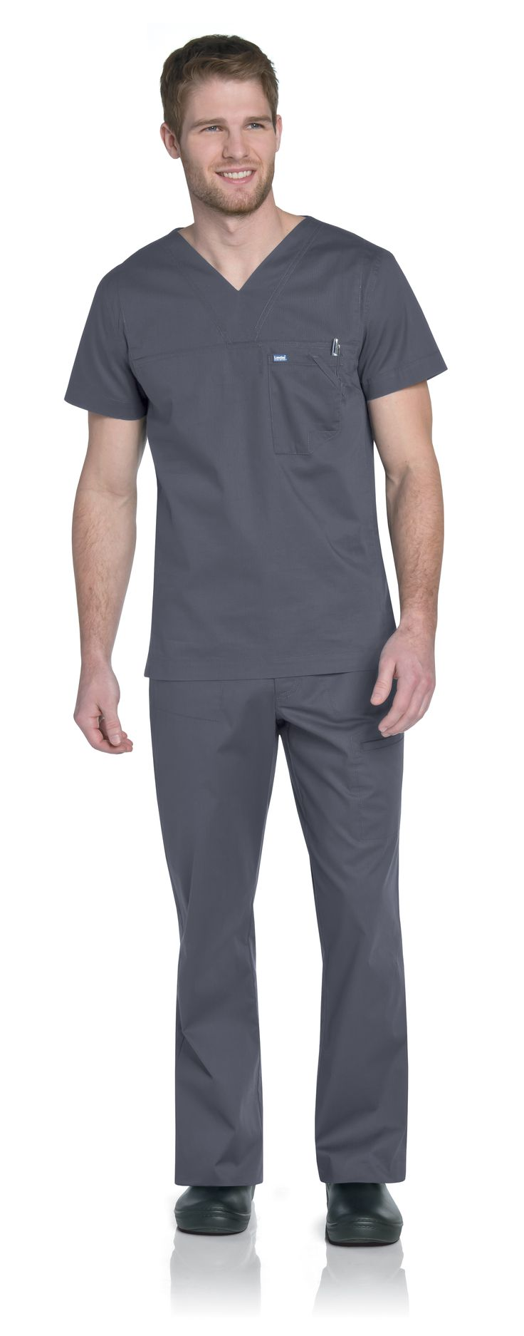 NEW! Landau Men's 4127 Tunic #Landau #Uniforms #Medical #Fashion #Scrubs #Health…