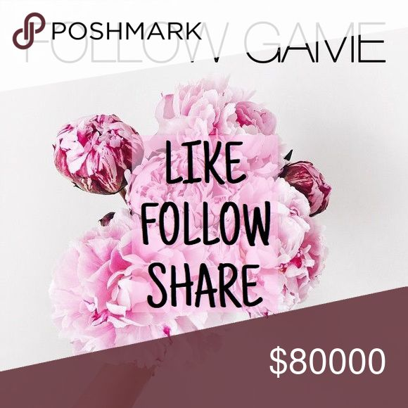 ✨LIKE✨FOLLOW✨SHARE✨ •Like this post •Share this post •Follow everybody who likes this post  •TAG YOUR FRIENDS •I will follow everybody back •GROW FOLLOWERS  ✨SHARE SHARE SHARE✨  Hey, Ya'll! This is my first follow game✨ Check out my closet! I have a collection of urban outfitters, anthropologie, free people, and more... all at amazing prices and I'm never offended by offers🌿 Anthropologie Other