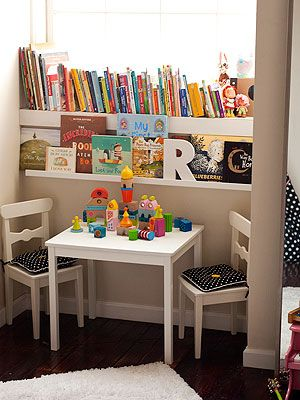 Create a Cozy Reading Nook for Your Kids ---bedroom closet, only comfy bean bags or something instead of the table and chairs