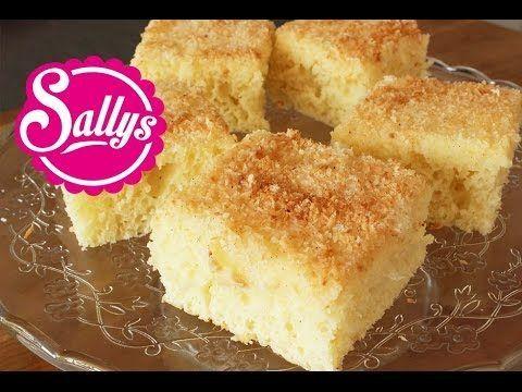 Sallys Blog - saftiger Buttermilch-Kokos-Kuchen auf dem Blech