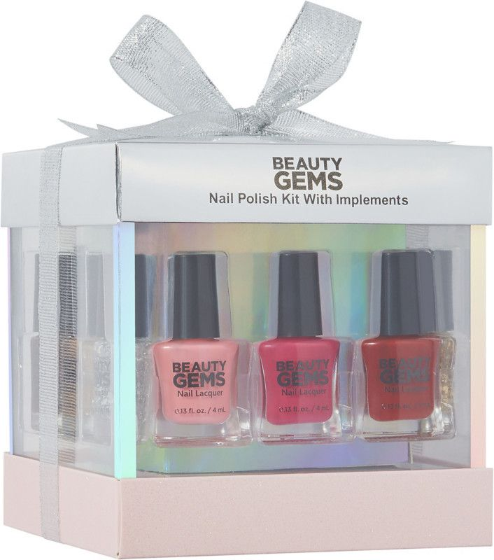 Beauty Gems Nail Polish Kit with Implements