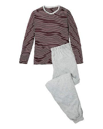 Capsule Striped Long Sleeve Pyjamas Long-sleeve top with crew neck and all-over stripe. Long bottoms with elasticated waist and cuffed hem. http://www.MightGet.com/january-2017-13/capsule-striped-long-sleeve-pyjamas.asp