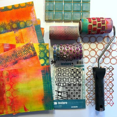 Tutorial: Beautiful Image Transfers on Gelli® Printed Backgrounds with @BirgitKoopsen!  Just create a bunch of random colorful backgrounds, start with color only, no patterns yet. I usually start with covering my backgrounds with 2 or 3 light colors like yellow, pink and orange and then later add patterns in darker colors, this way you will keep the light colors vibrant.