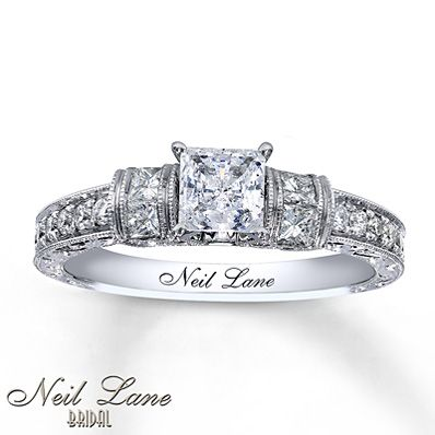 Perfect Neil Lane Pear Double Halo Engagement Ring