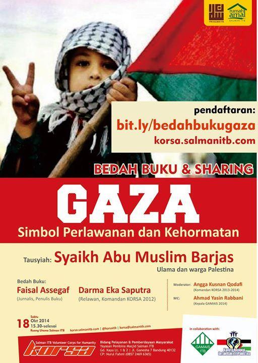 Poster Bedah Buku Gaza