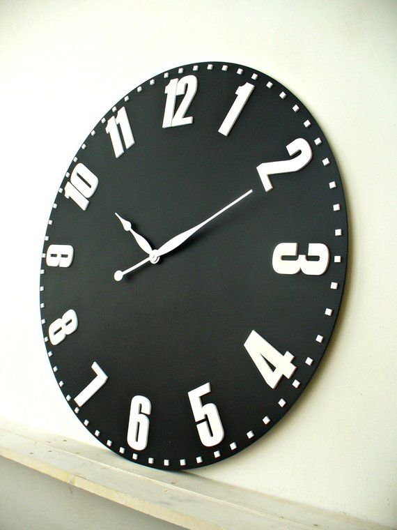 Oversized wall clock Large wall clock 33 inch / 84 cm Farmhouse ...
