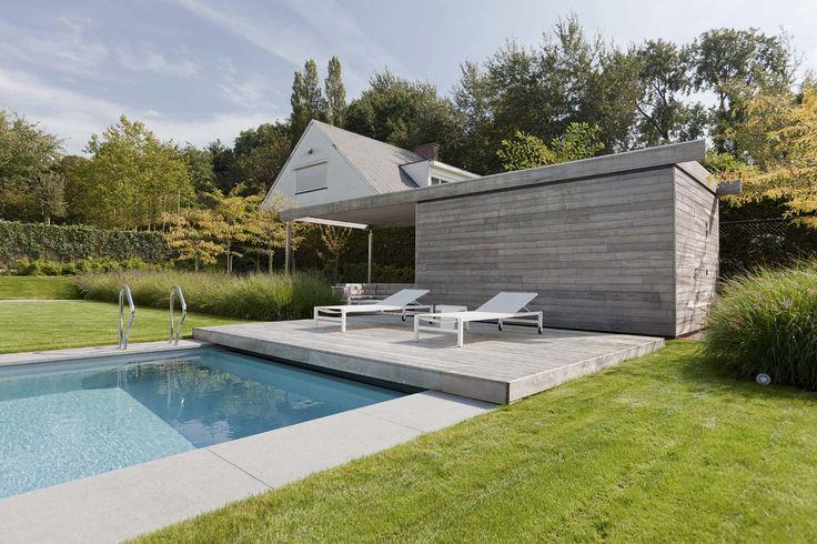 Grote strakke tuinen   Filip Van Damme   GARDENS   Pinterest   Pool houses, Modern and Swimming