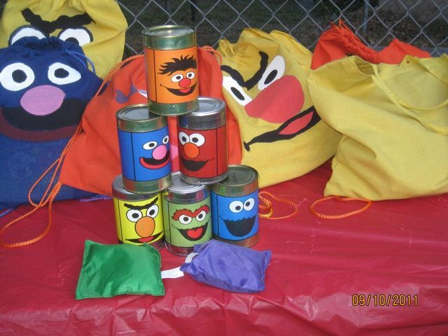 Games from a Sesame Street party