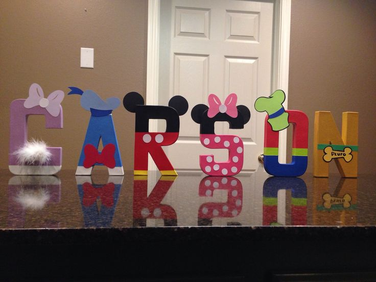 Mickey Mouse Club Custom Name Letters by KimsCrafts39 on Etsy https://www.etsy.com/listing/225342898/mickey-mouse-club-custom-name-letters