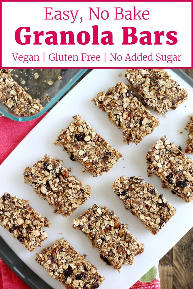 No Bake Granola Bars With Nuts And Oats Recipe Little Chef Big Appetite Recipe Homemade Granola Bars No Bake Granola Bars Easy Granola Bars
