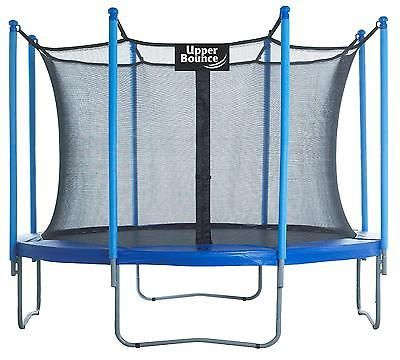 10ft Trampoline Enclosure Set W Shaped Legs Round Frame Easy Assemble Safety Pad