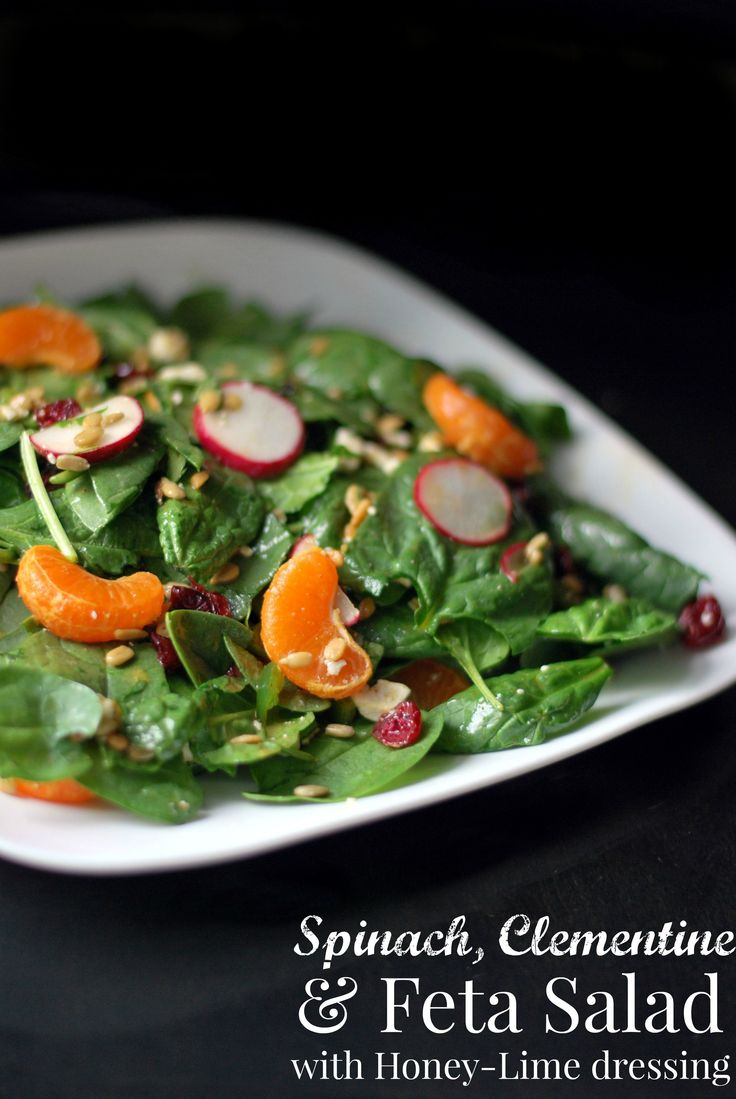 salad salade spinach clementine dressing aunt honey lime dressing ...