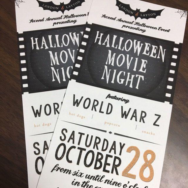 Halloween Movie Night Invitation buyer photo added by lw2dragonflies