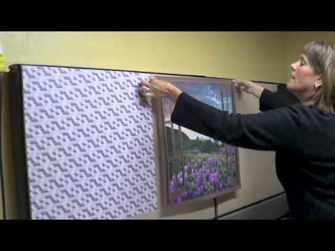 Cubicle wallpaper dressup from start to finish - how to install cubicle wallpaper - YouTube