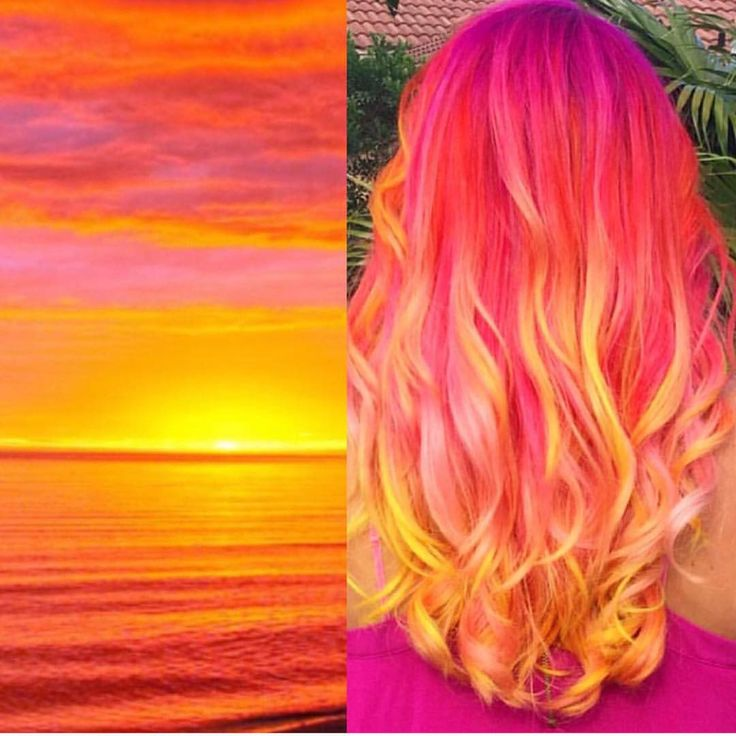 """Hot on Beauty on Instagram: """"Sunset by @sweetmelissagrace Beautiful inspired color design Melissa """""""