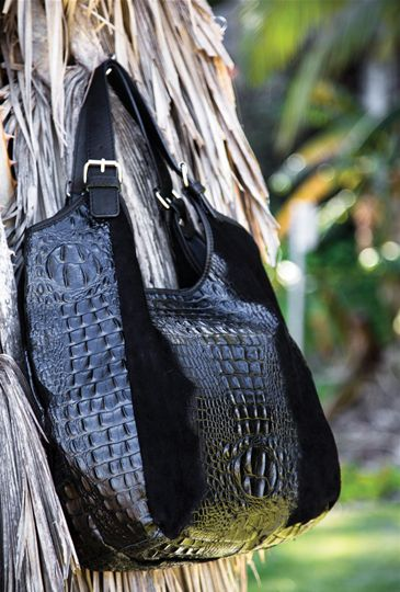 Our Mona Croc Embossed Leather/Suede Hobo, photographed by the wonderful  Jacqueline Andronicus. Big, beautiful and stylish, this is the perfect accessory for every woman!