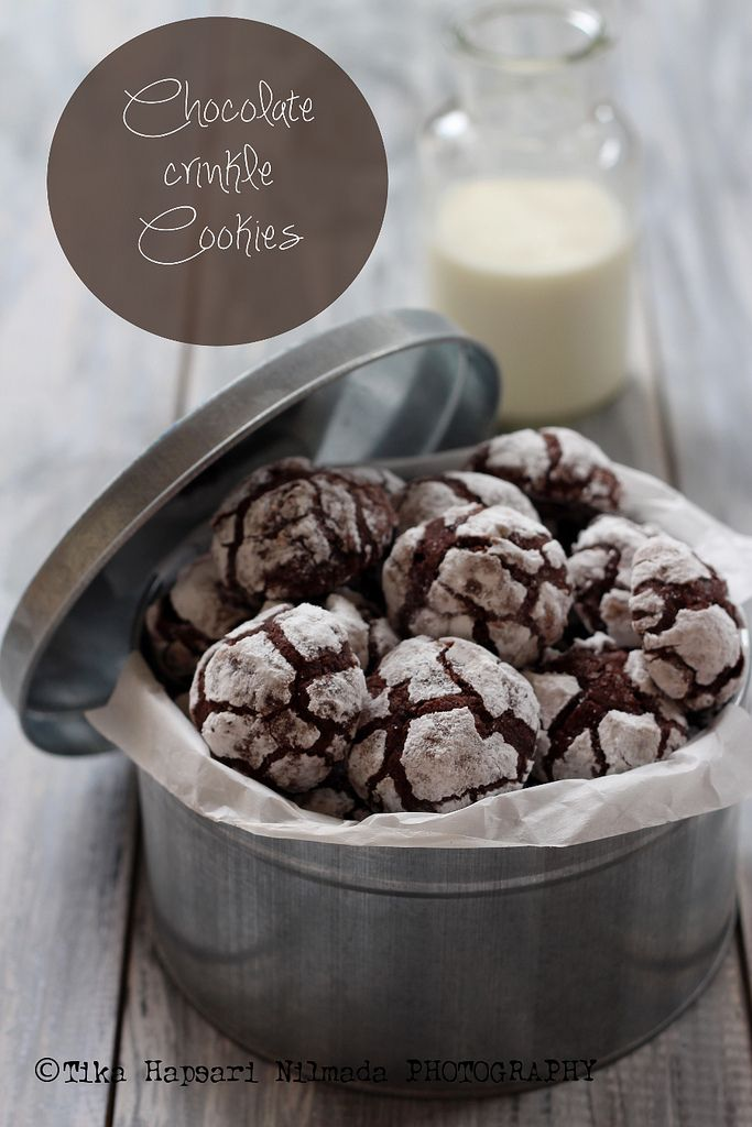 Chocolate crinkle cookies | Awesome and delicious | Pinterest