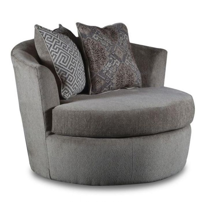 Get Cozy And Comfy On A Plush Swivel Chair With Big Pillows Julep