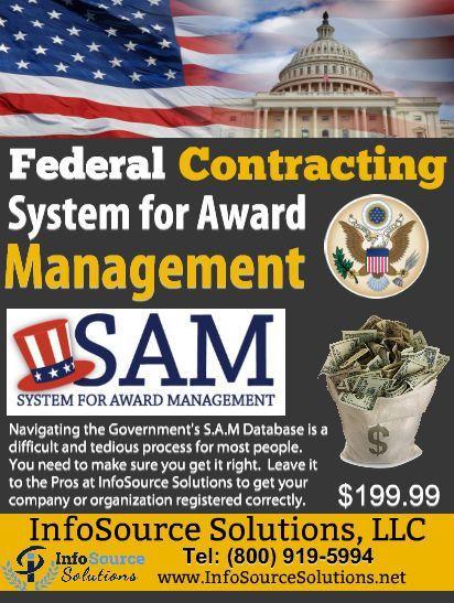 System for Award Management (SAM) Registration