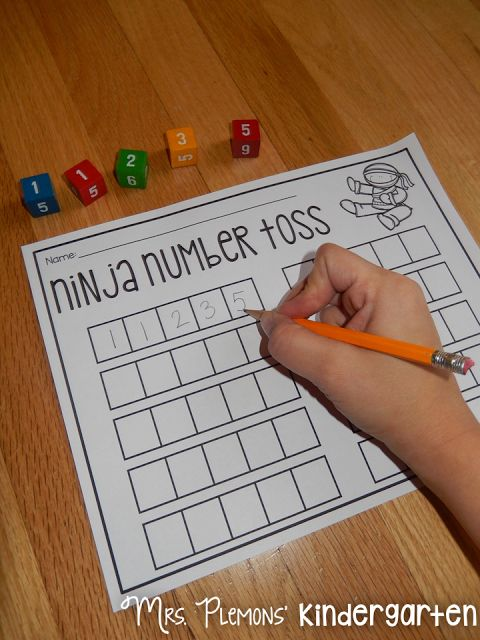 Build Kindergarten Number Sense with these 20 differentiated centers! Ninja Number Toss is great for practicing number order.