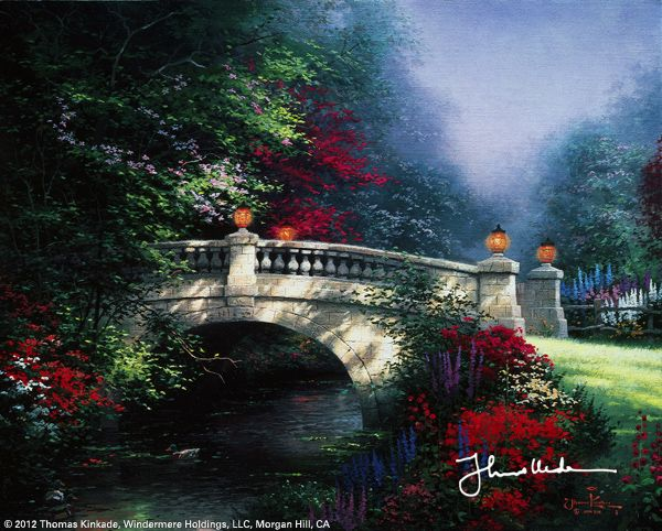 The Broadwater Bridge, Thomashire by Thomas Kinkade