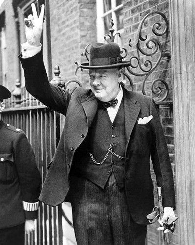 British Prime Minister Winston Churchill Glossy 8x10 Photo Vintage Poster | eBay