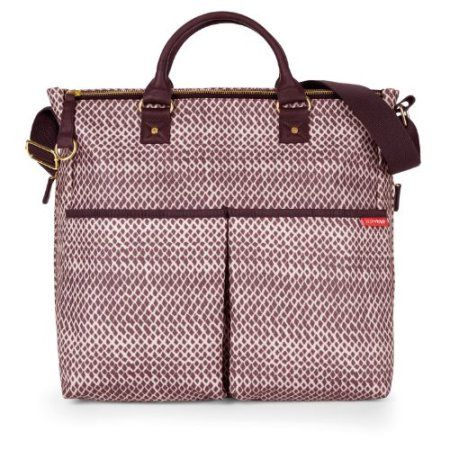 Skip Hop Duo Special Edition Diaper Bag, Plum Sketch Multi-Colored
