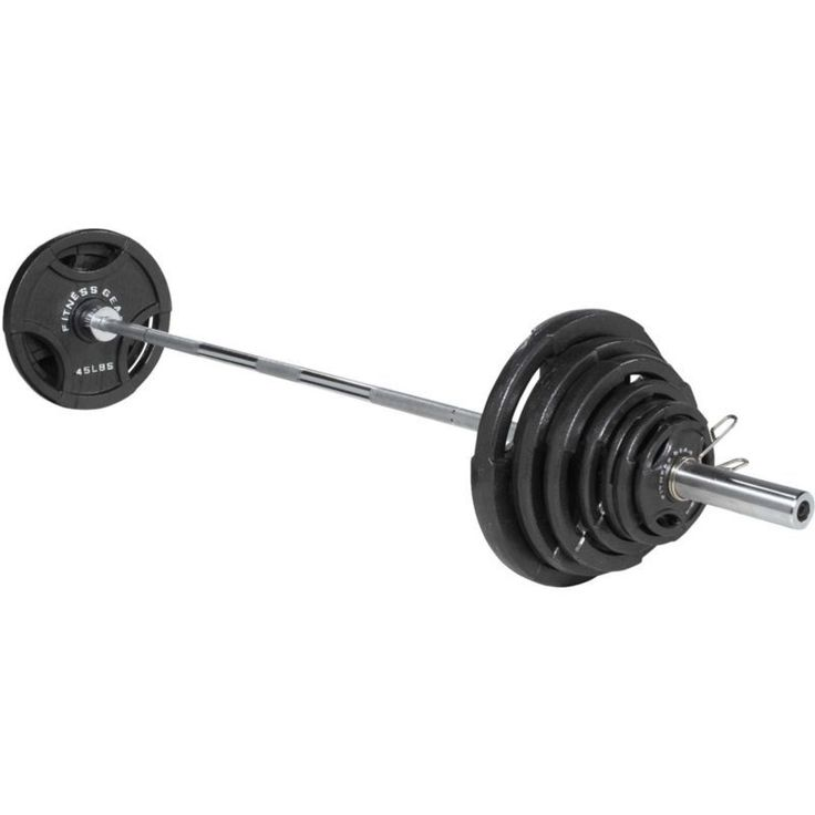 Fitness Gear 300 lb. Olympic Weight Set, Grey