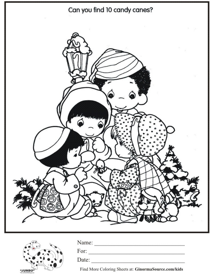 p moments coloring pages christmas - photo#18
