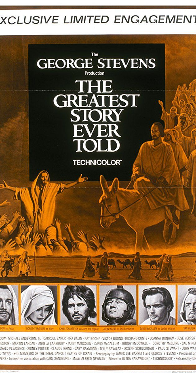 Directed by George Stevens, David Lean, Jean Negulesco. With Max von Sydow, Dorothy McGuire, Charlton Heston, Michael Anderson Jr.. An all-star, large scale epic film that chronicles the life and ministry of Jesus Christ.