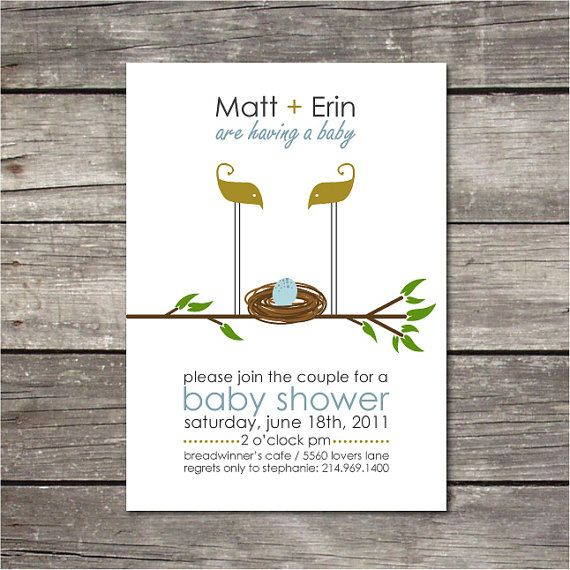PRINTABLE simple baby shower invitation by chachkedesigns on Etsy