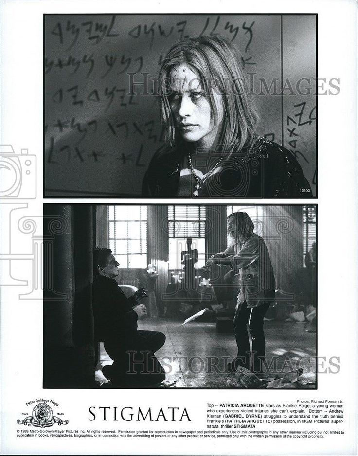 "1999 Press Photo ""Stigmata"" Patricia Arquette Gabriel Byrne"