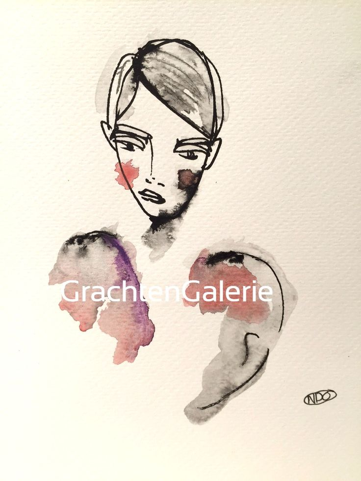 Noortje den Oudsten | Lady present 4 | illustratie | kunst | mode | vrouw | illustration | art | fashion | woman | aquarel
