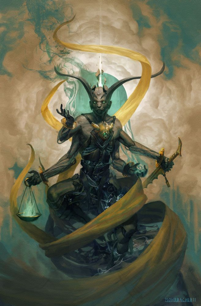 Zadkiel, Angel of Mercy - Art by Peter Mohrbacher - Angelarium