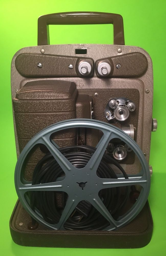 253 R Bell & Howell 60 cycle 8mm film projector vintage portable video player. #BellandHowell