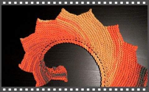 How to knook a dragon tail scarf teeth wingspan free video knooking pattern tutorial knitting