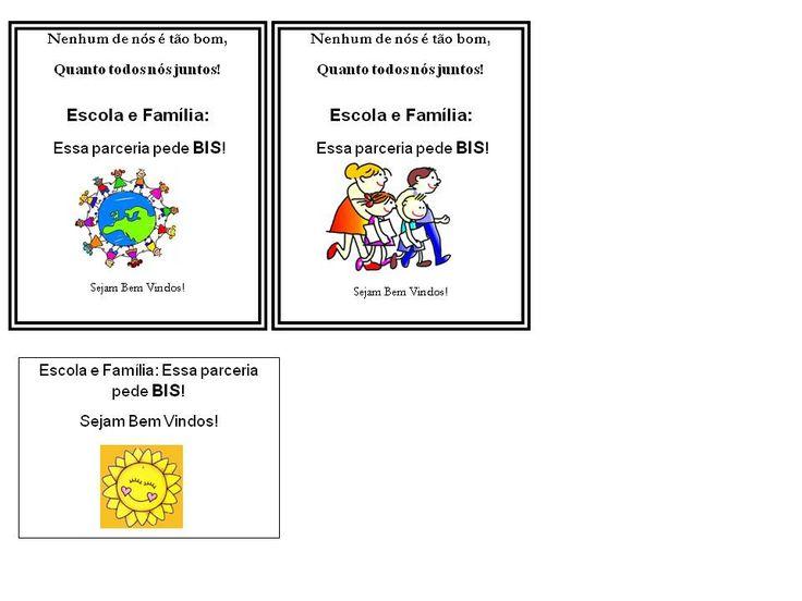 Olá!   abaixo há alguns textos para a reunião de pais que poderão ser afixados a alguma lembrancinha.       Convites e textos para reuniã...