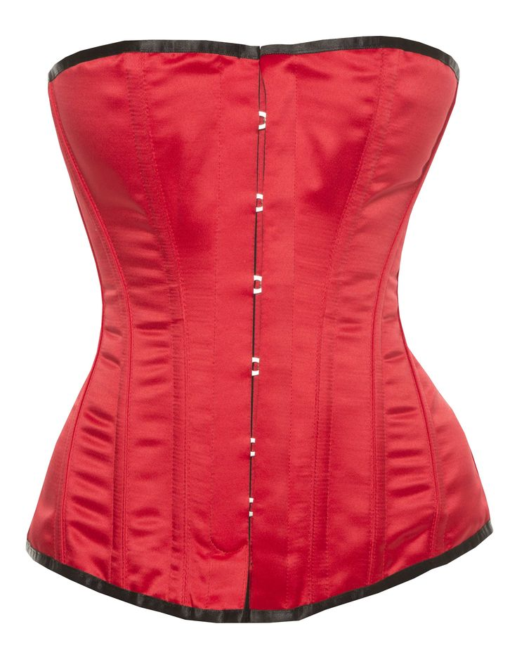 Harmony - Victorian Corsets Red Satin By Vollers Corsets