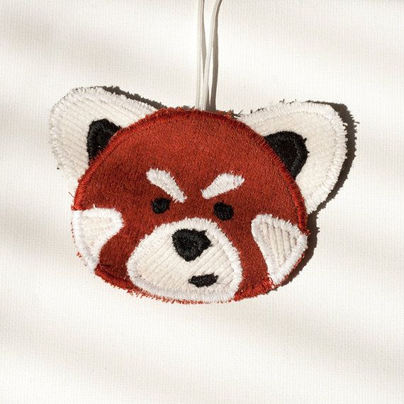Red Panda Bag Accessory, Personalize your backpack or purse with this cutie. Zipper #charm. Made in Norway.