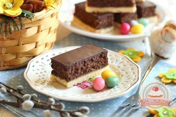 Diós csokoládés habszelet