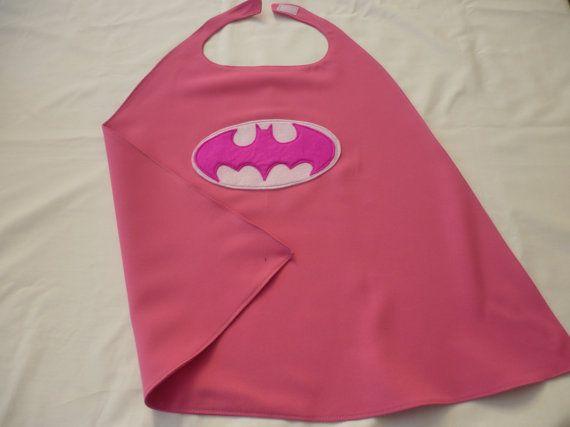 Pink Batgirl cape for dressing up/costume/fancy by MummyHughesy, £12.00