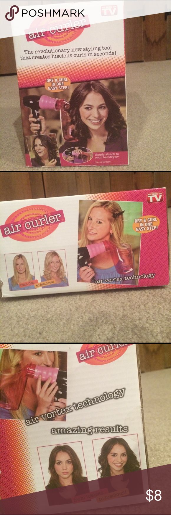 Air curler Air curler never used pink with box and instructions. Mint condition Accessories Hair Accessories