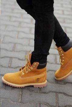 We love these lighter colored boots for winter style.  Timberland Boots