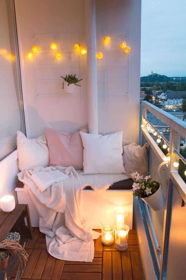 DIY seat box & tips for a cozy balcony