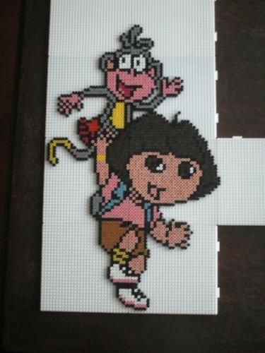 Dora the Explorer hama perler beads by marmotte88130