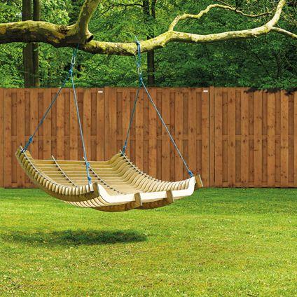Praxis | Een houten hangmat in je achtertuin!