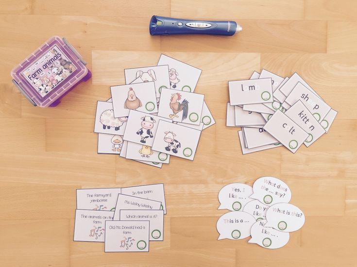 materialwiese: Themenbox farm animals für die Wortschatzkiste im Englischunterricht der Grundschule