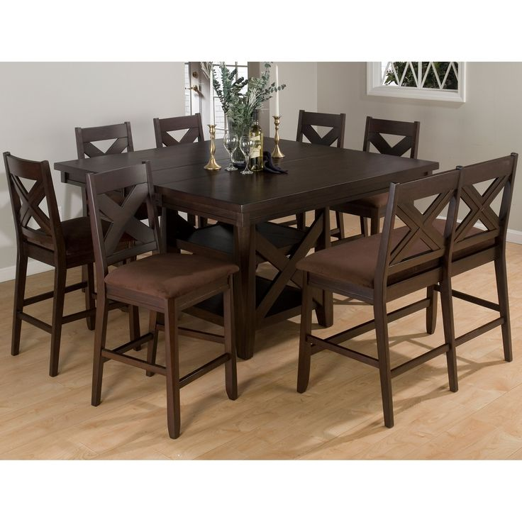Lovely Bar Height Dining Room Table and Chairs